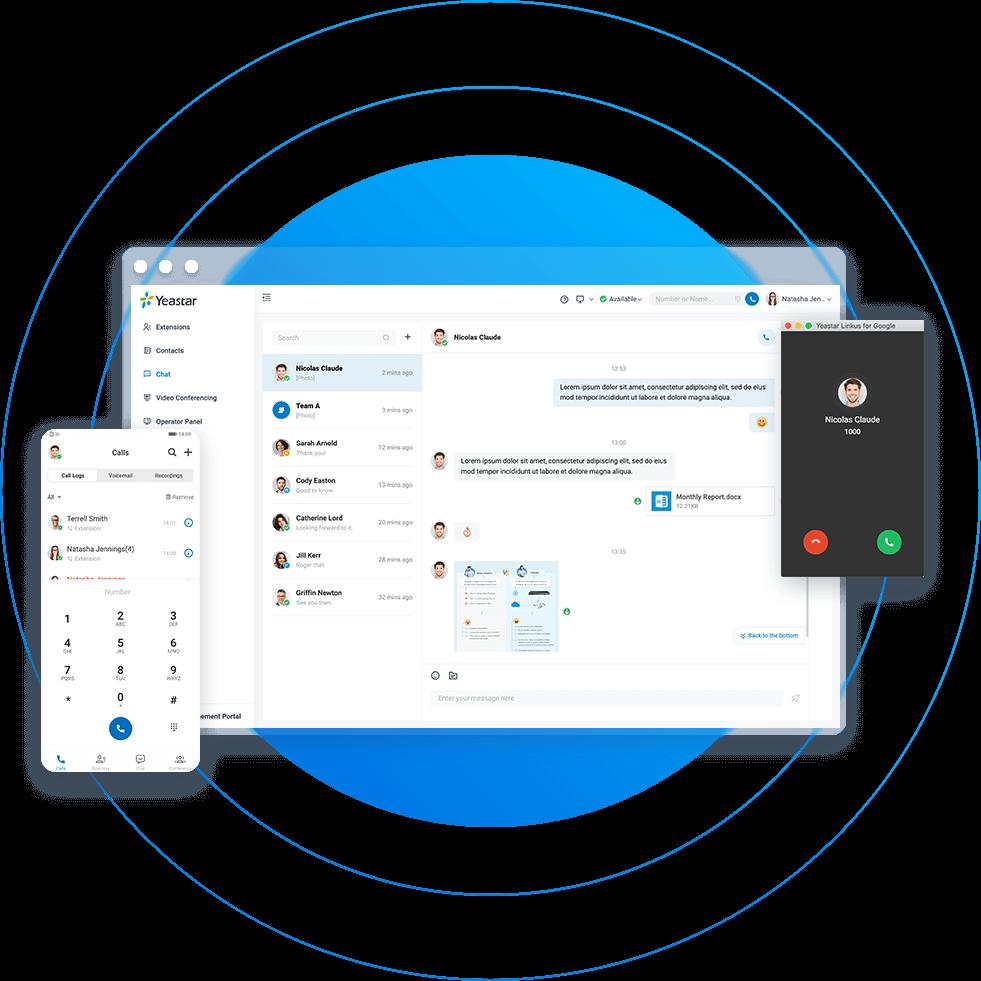Yeastar IPBX - Linkus chat et appel
